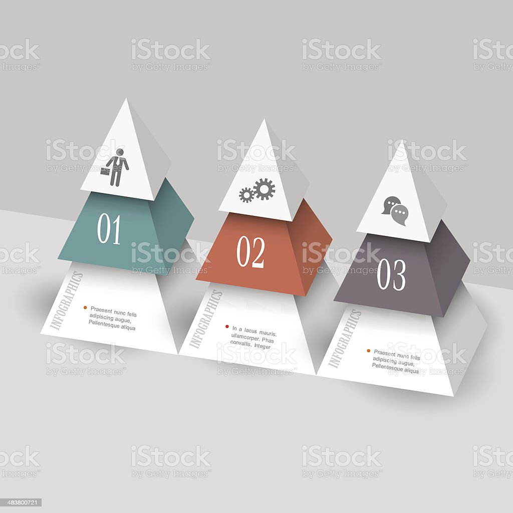 Modern Infographics Template In Form Pyramids stock vector art ...