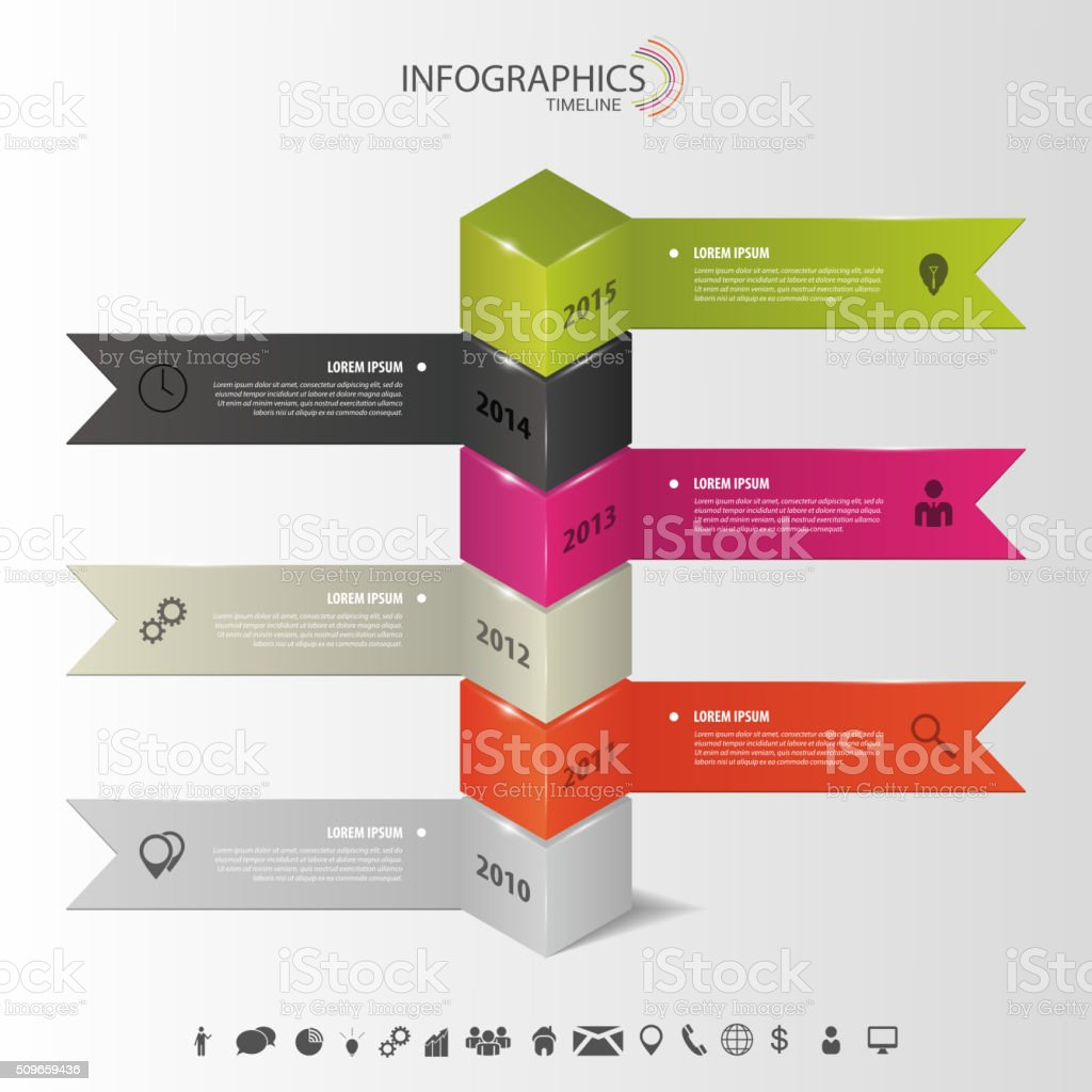 Modern Infographics Timeline Template Vector Stock Illustration Download Image Now Istock