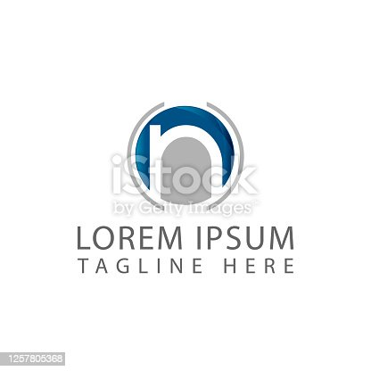 istock modern initial letter N logo concept icon design illustration 1257805368