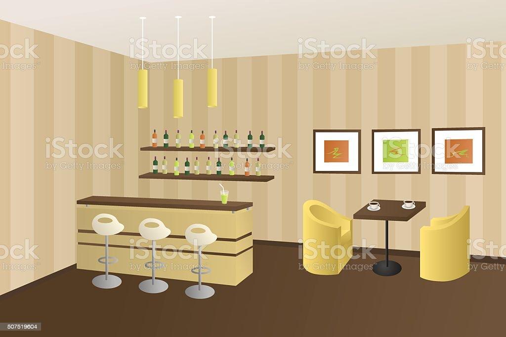 Moderne Interieur Café Kaffee Shop Bar Beige Braun ...