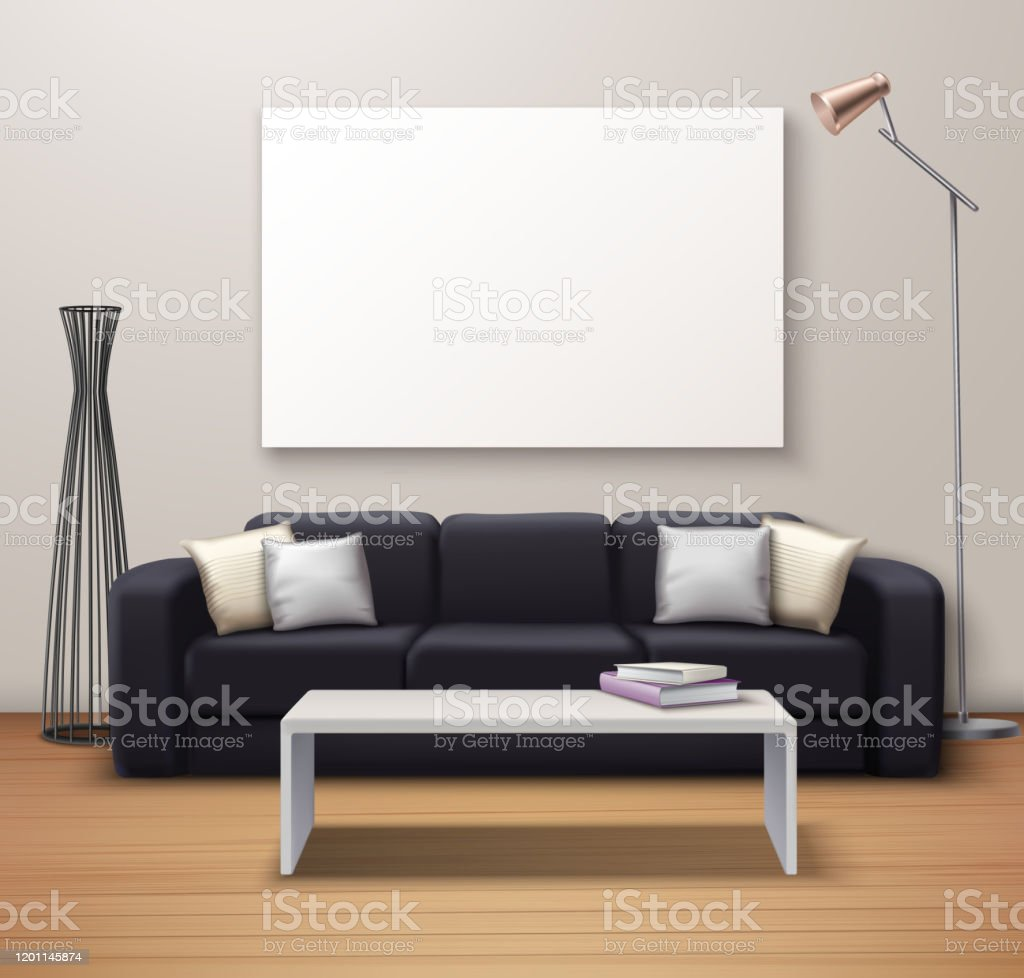 Modern Interior Mockup Realistic Stock Illustration Download Image Now Istock