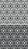 Modern islamic pattern in black & white inspired from tiles taken from mosque walls.
