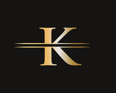 Modern K Logo Design for business and company identity. Creative K letter with luxury concept