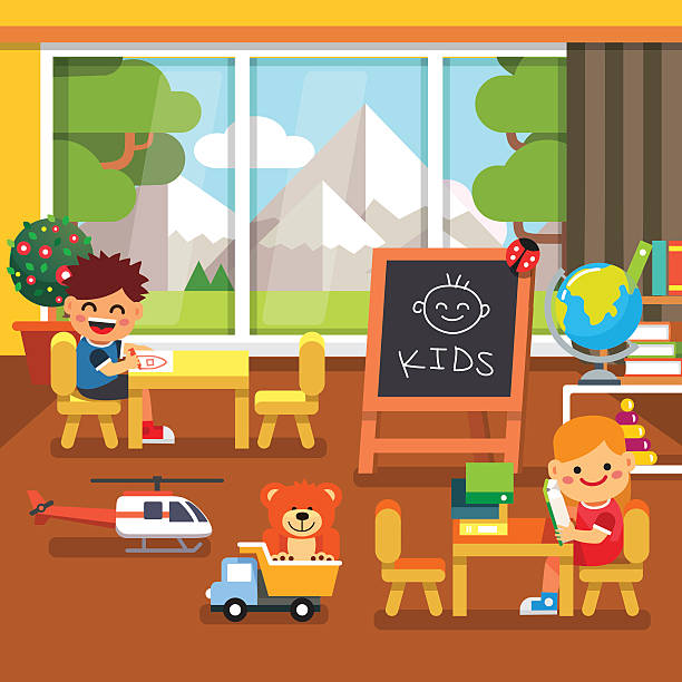Modern Classroom Vector : Royalty free preschool class clip art vector images