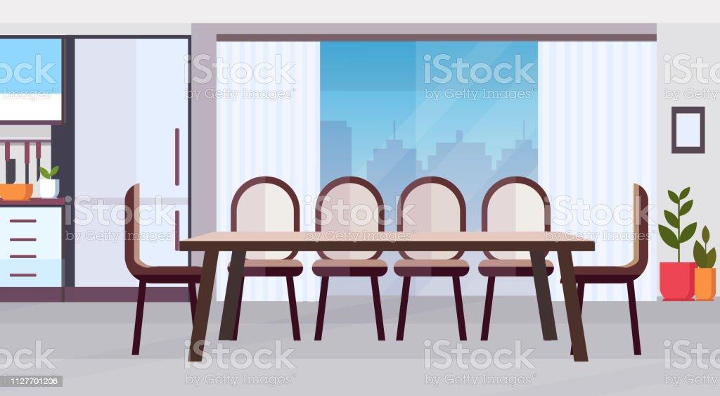 Marvelous Modern Kitchen Interior Design With Big Round Dining Table Machost Co Dining Chair Design Ideas Machostcouk