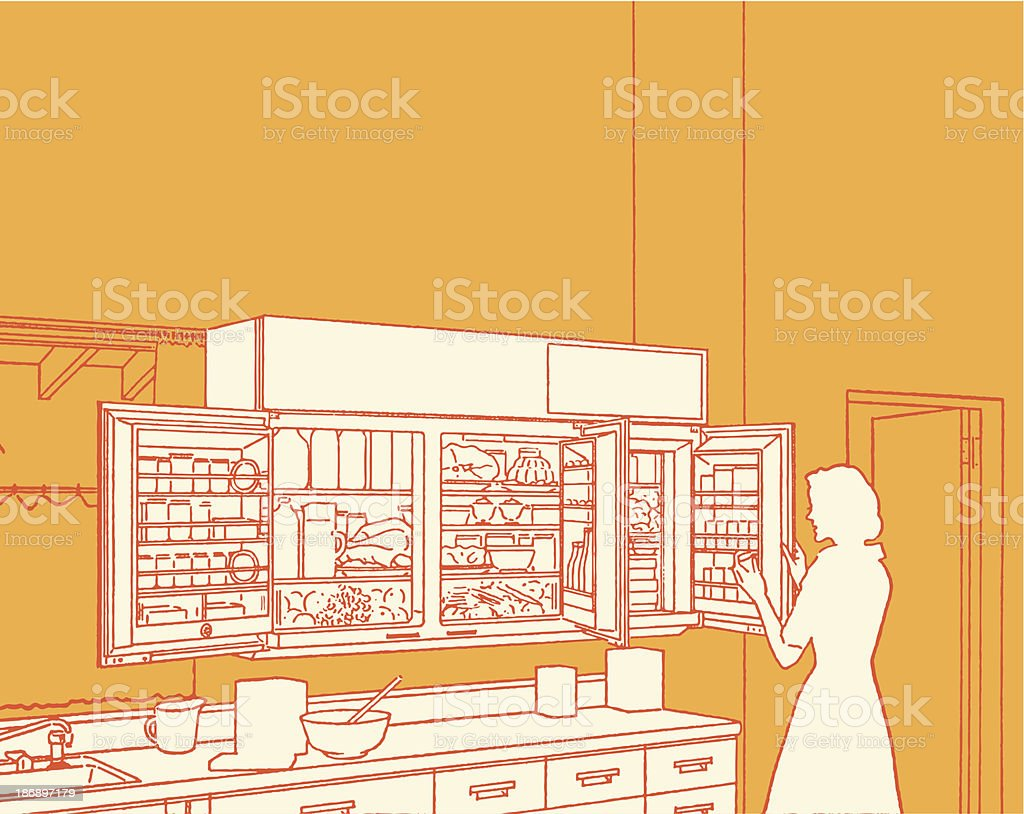 Modern Kitchen royalty-free stock vector art