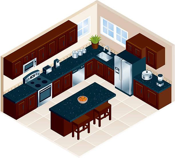 moderne küche - küchenmixer stock-grafiken, -clipart, -cartoons und -symbole