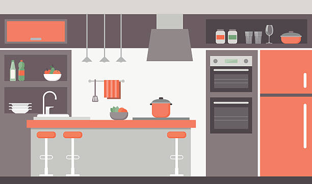 Royalty Free Kitchen Remodel Clip Art, Vector Images