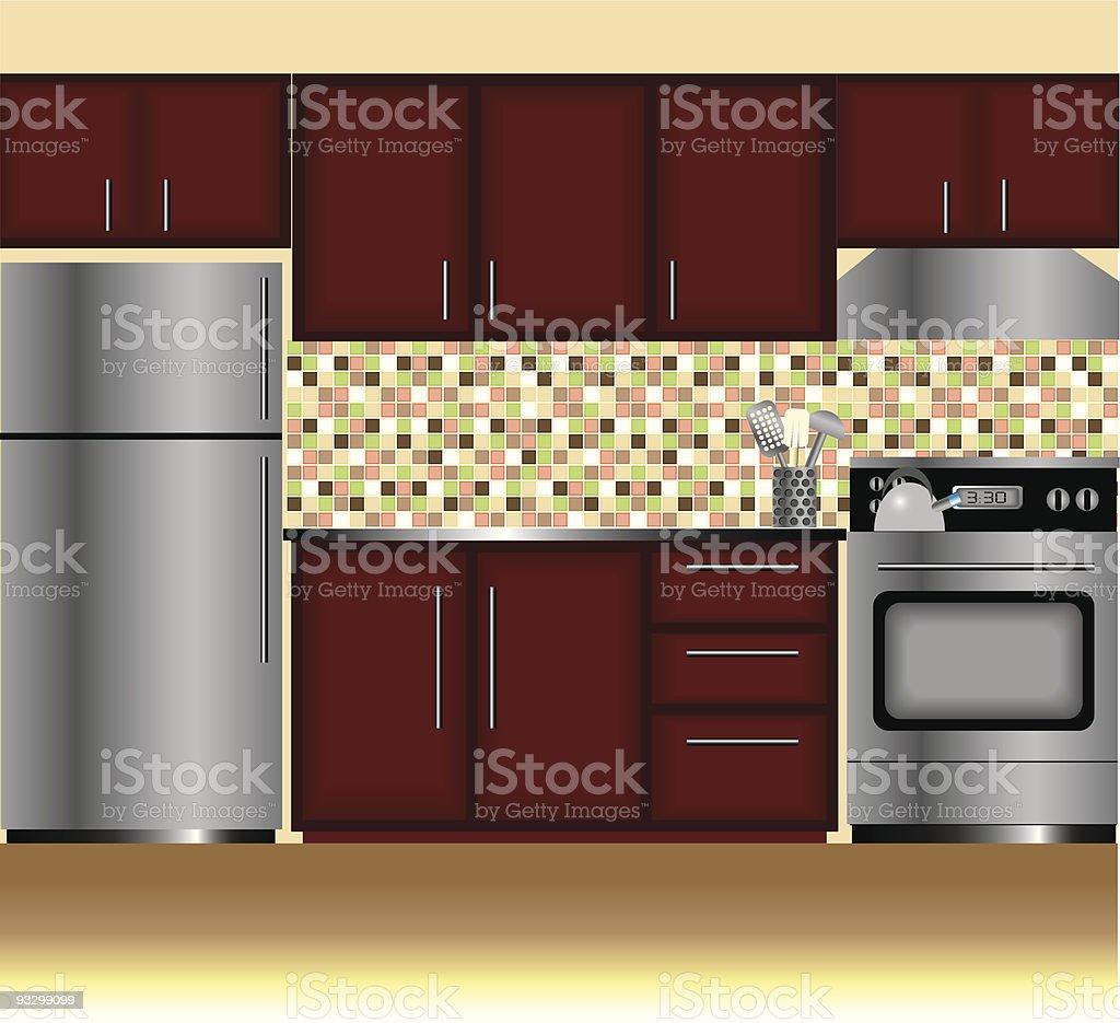 Modern Kitchen royalty-free stock vector art