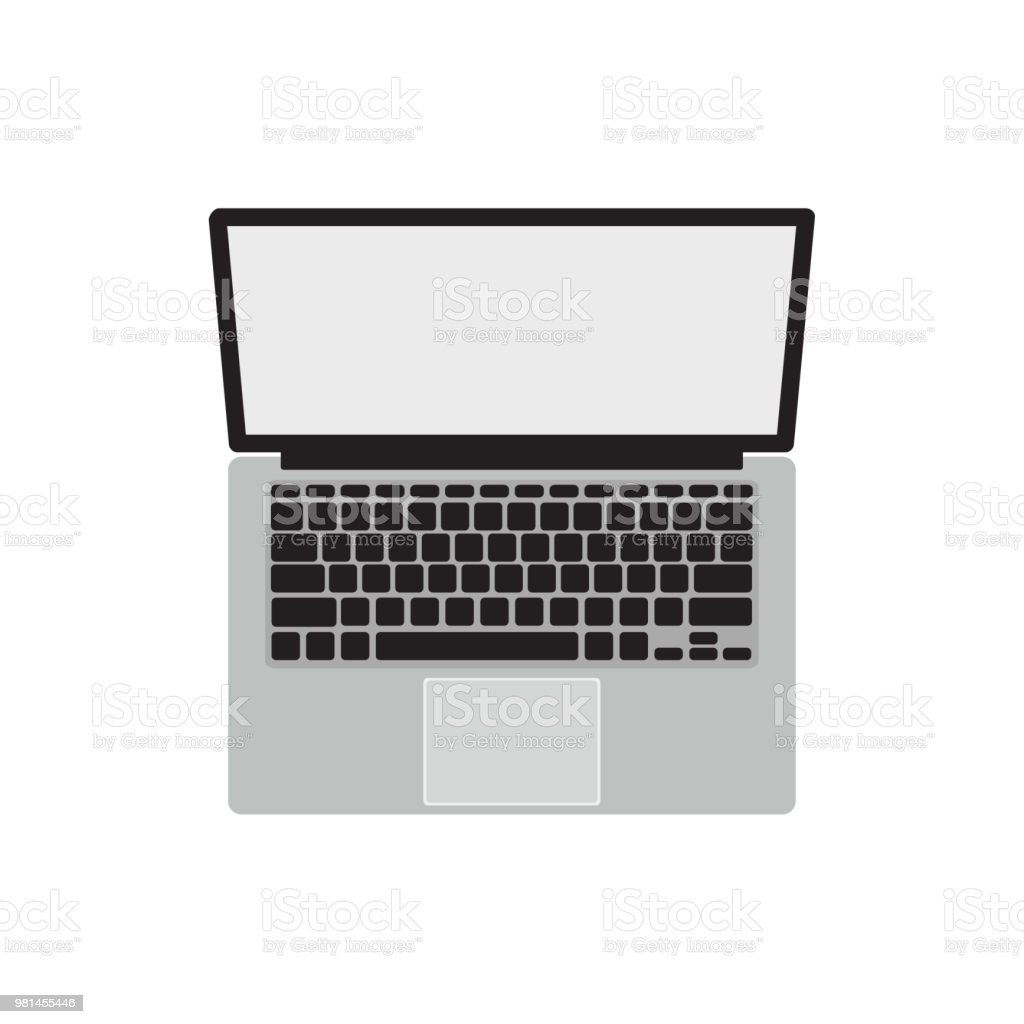 modern laptop computer on white background notebook computer vector