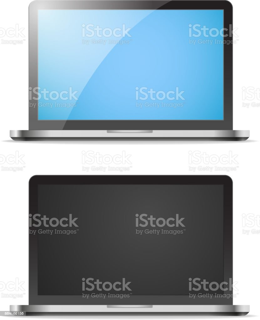 Modern laptop vector mockup royalty-free modern laptop vector mockup stock vector art & more images of beauty