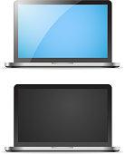 Modern laptop vector mockup