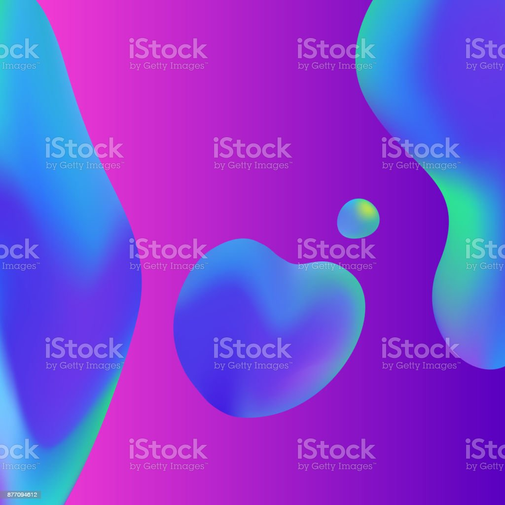 Modern lava lamp liquid abstract background vector art illustration