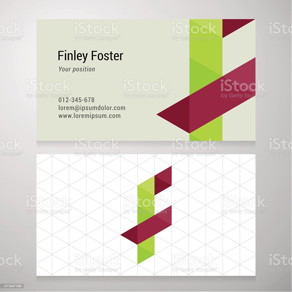 Modern letter f origami business card template stock vector art modern letter f origami business card template royalty free modern letter f origami business card jeuxipadfo Gallery