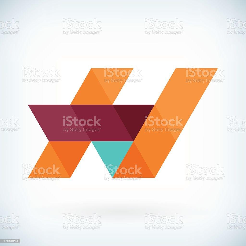 Modern letter H icon flat design element template vector art illustration