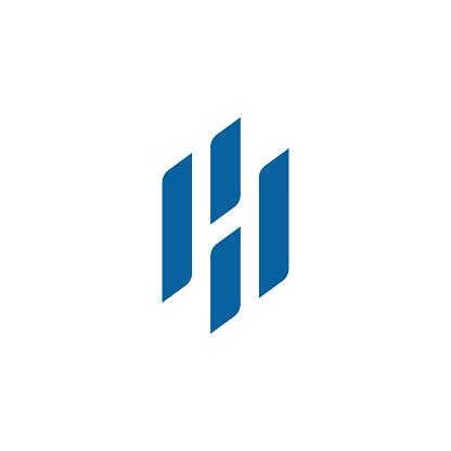 Modern Letter H Icon Logo Design Template