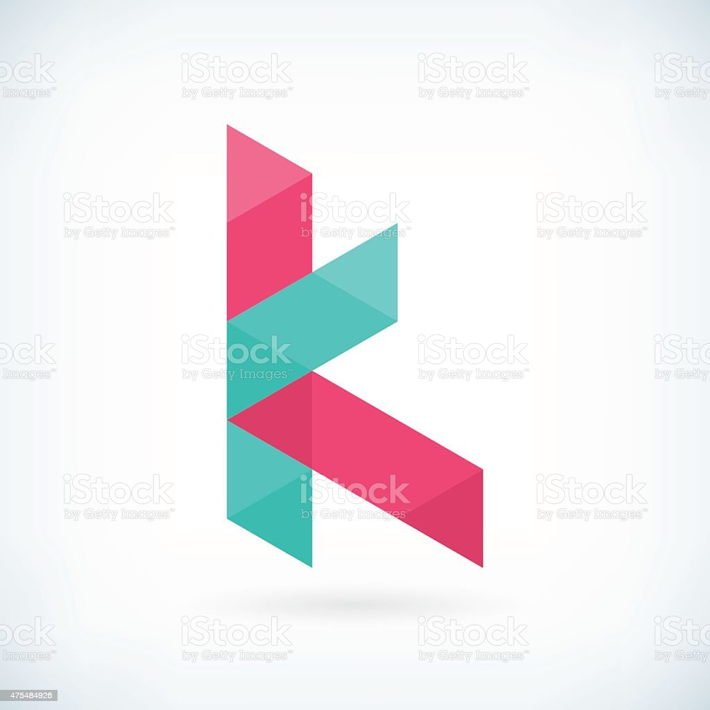 modern letter k icon flat design element template royalty free modern letter k icon flat