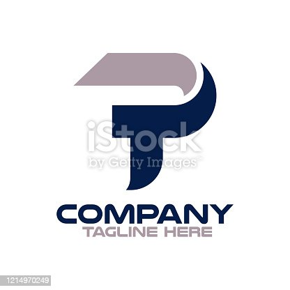 istock Modern Letters TP or PT logo.Vector illustration. 1214970249