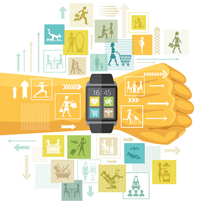 Modern life app concept