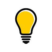 Modern light bulb icon. Idea and creativity symbol.