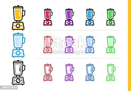 Modern Line Icon Hand Blender Of Bakery Cooking Premium Quality Outline Symbol For Web Graphics And Print - Stockowe grafiki wektorowe i więcej obrazów Bez ludzi 965421844