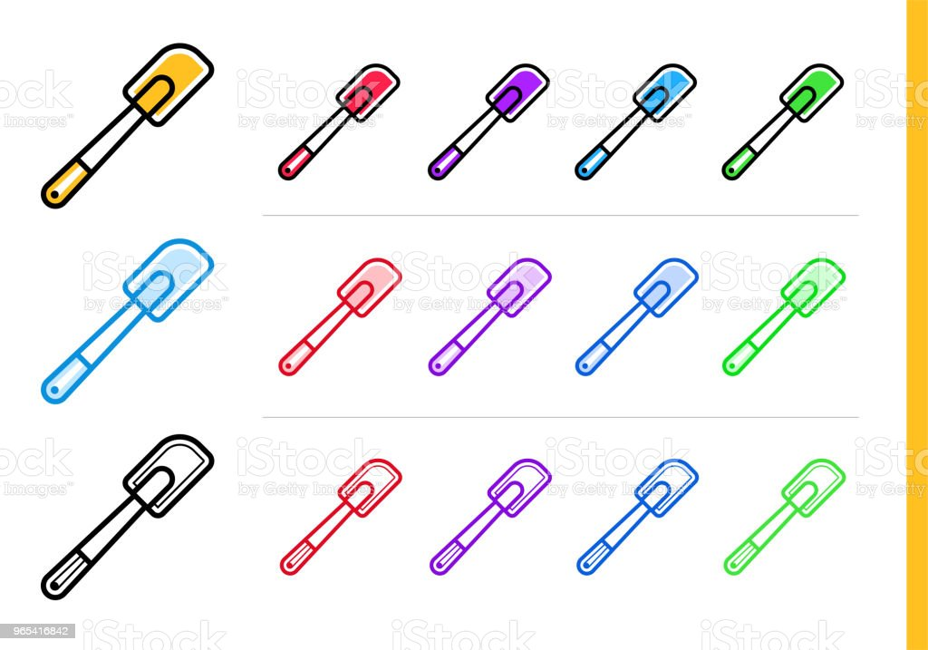 Nowoczesna ikona linii SILICONE SPATULA piekarni, gotowanie. Najwyższej jakości symbol konturu dla grafiki internetowej i druku - Grafika wektorowa royalty-free (Bez ludzi)
