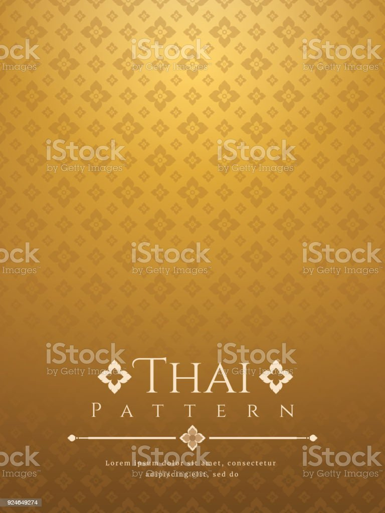 Moderne Linie Thai Muster Traditionellen Konzept Der Kunst Von Thailand  Lizenzfreies Moderne Linie Thai Muster Traditionellen