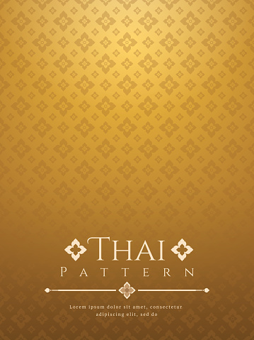 modern line Thai pattern traditional concept The Arts of Thailand