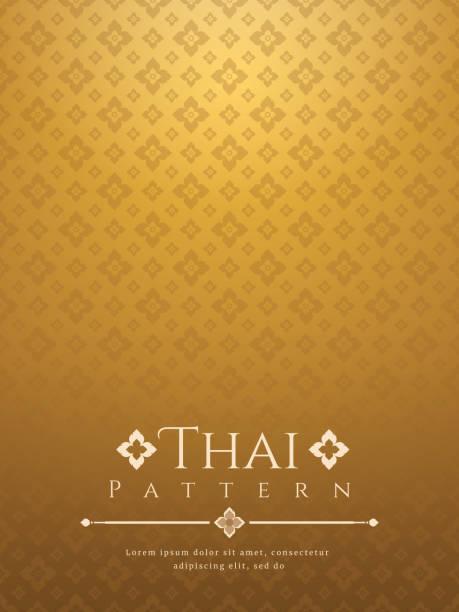 stockillustraties, clipart, cartoons en iconen met modern lijn thai patroon traditionele concept the arts van thailand - buddha