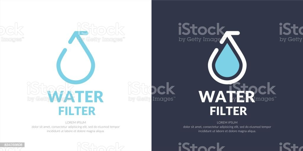 Modern line vector icon of the water drop vector art illustration