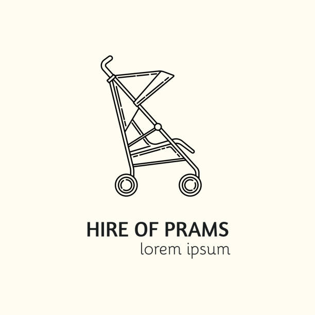 Best Baby Stroller Illustrations, Royalty-Free Vector