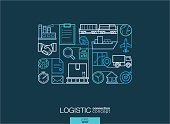 Modern linear style vector concept. Logistic