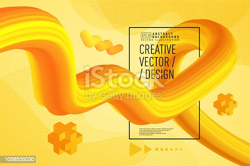 Modern liquid abstract 3d background, golden yellow, Creative 3d flow poster design abstract background, Modern liquid abstract 3d background. Liquid abstract 3d poster design.  Liquid wave abstract background. Vector illustration eps-10.