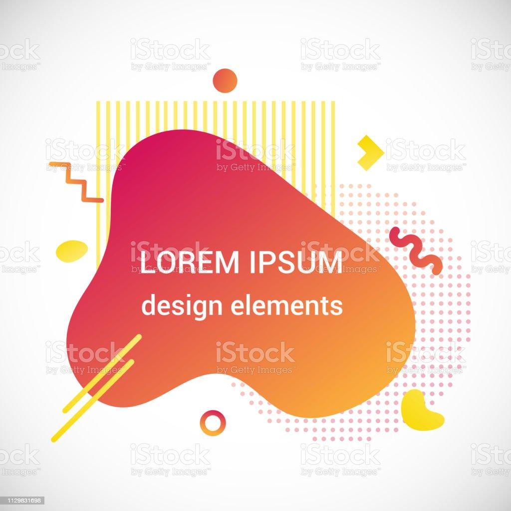 e2b3f13bafce9 Modern liquid abstract element shape gradient memphis style design fluid  vector colorful illustration banner simple shape