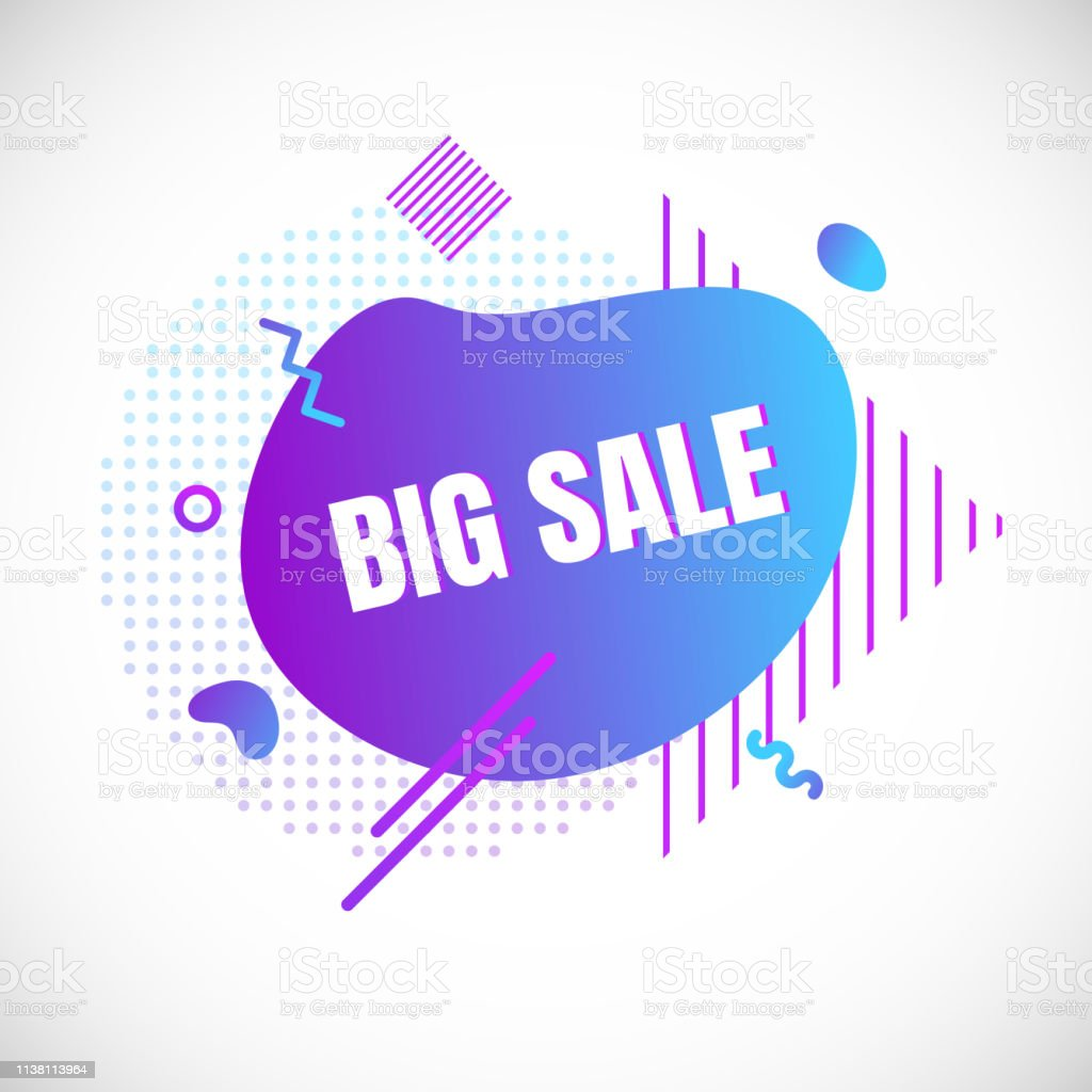 Modern liquid abstract special offer price sign BIG SALE text...