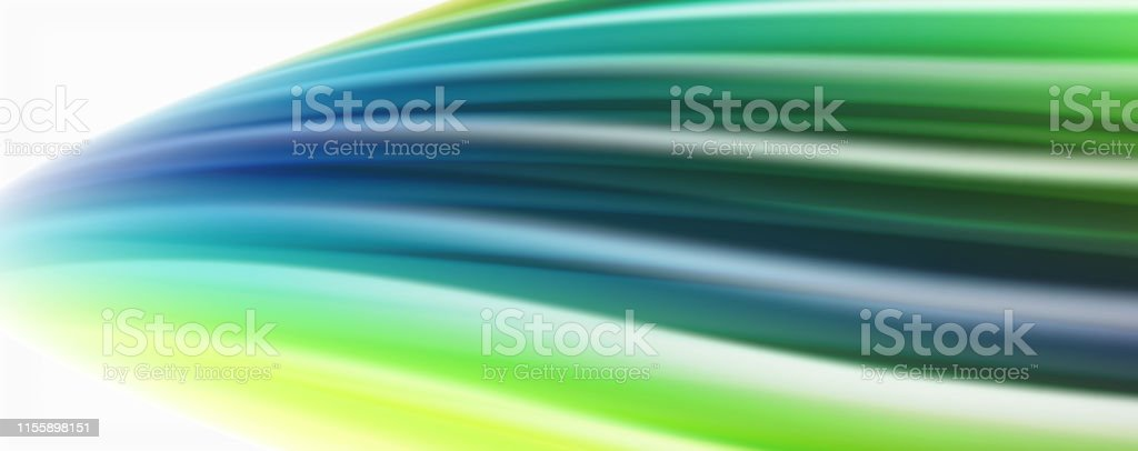 Modern Liquid color flow on white - colorful flow poster. Techno Wave...