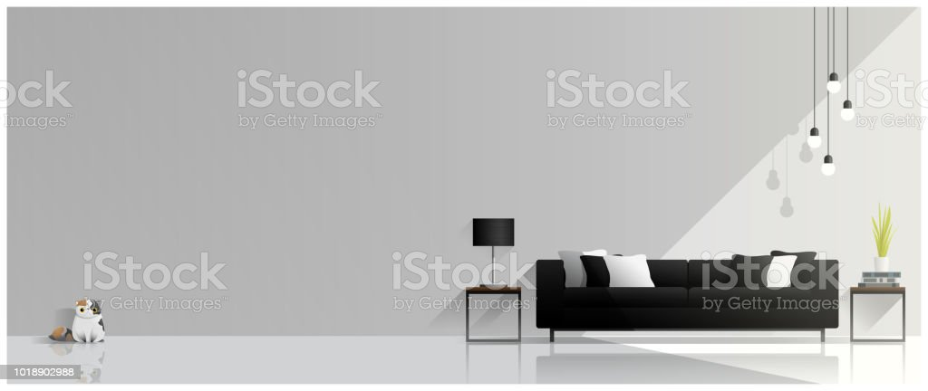 Modern living room design , Interior background , vector , illustration vector art illustration