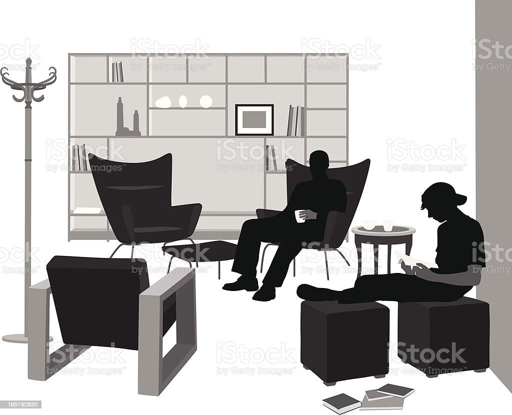 Modern Living Vector Silhouette royalty-free stock vector art