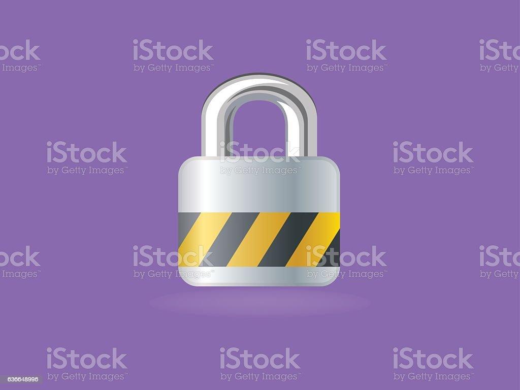 Modern Lock Icon vector art illustration