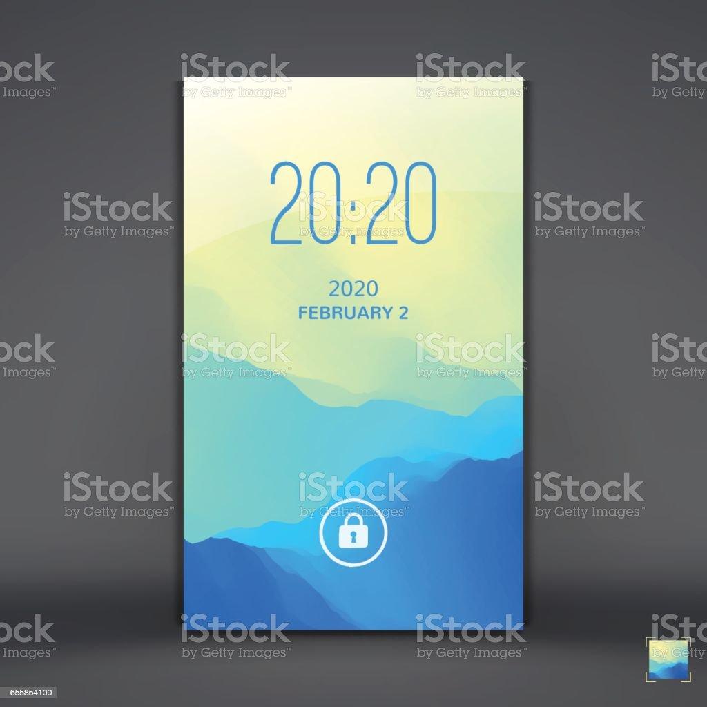 モバイルアプリのモダンなロック画面携帯電話の壁紙 3dのベクターアート素材や画像を多数ご用意 Istock