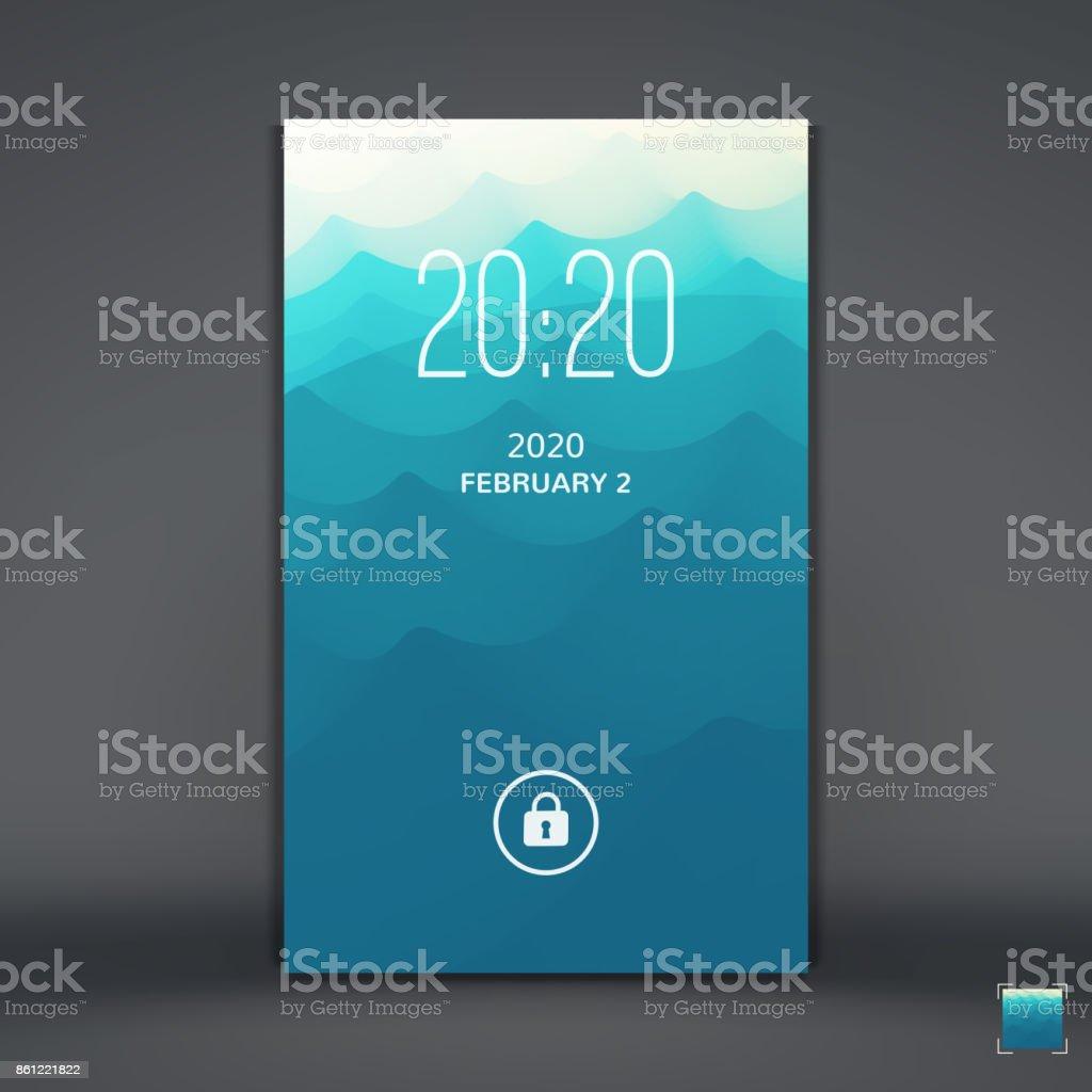 モバイルアプリのモダンなロック画面携帯電話の壁紙ベクトルの図 イラストレーションのベクターアート素材や画像を多数ご用意 Istock