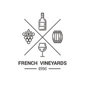 Modern logo for wine and winery.
