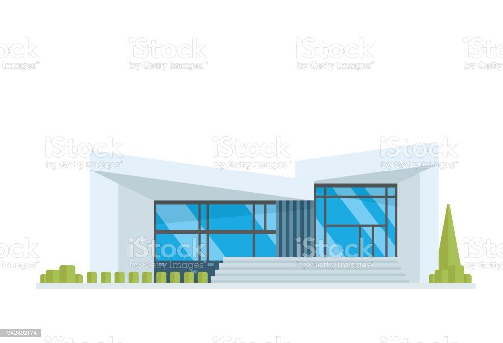 Moderno edificio de la casa de lujo contemporáneo ilustración - ilustración de arte vectorial