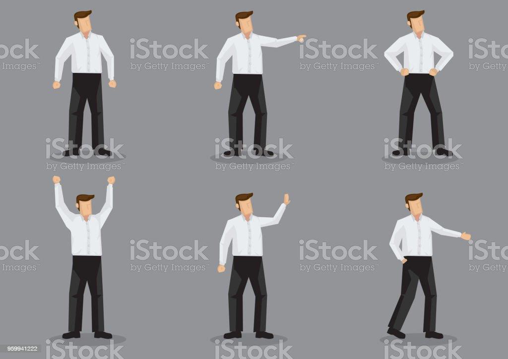 caractères Homme chemise jeu en pantalon de blanche noir moderne chemise vecteur en homme moderne et rEZqrvx