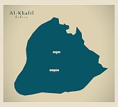 Modern Map - Al-Khalil PS