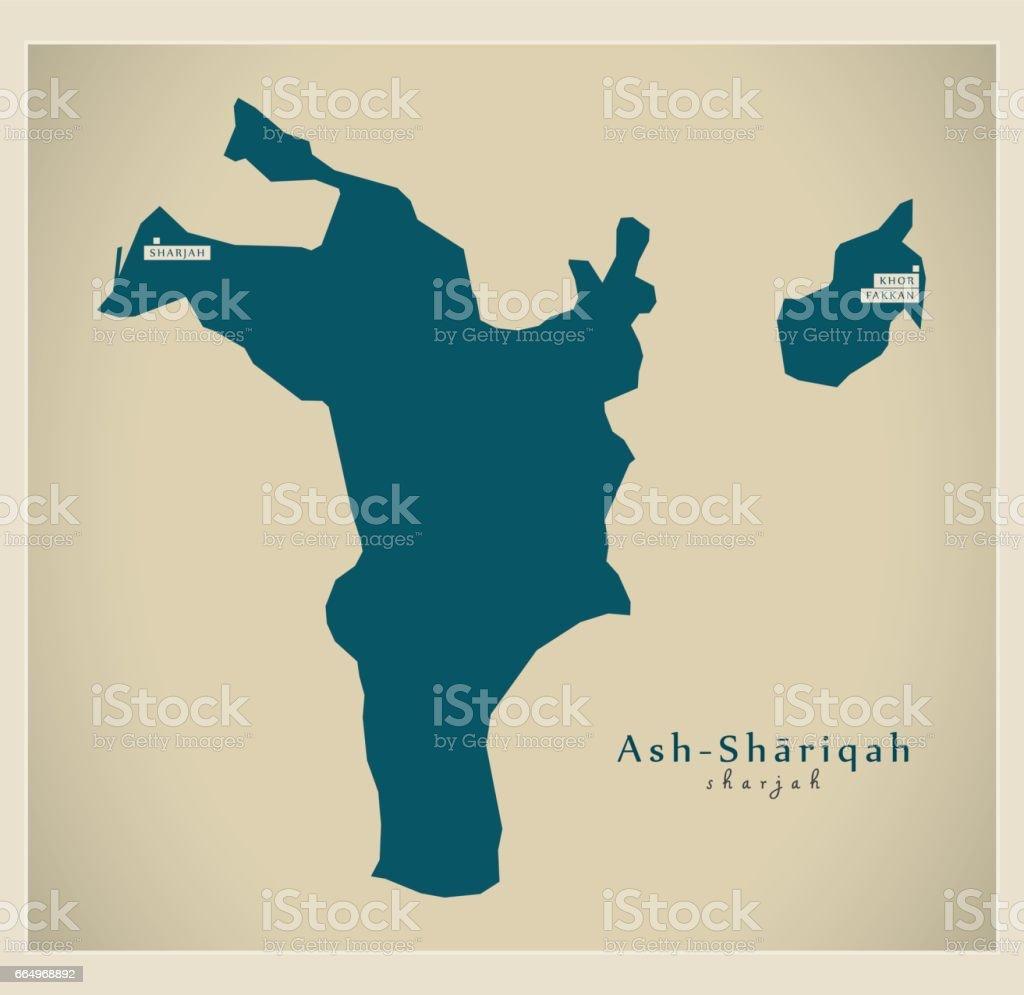Modern Map - Ash-Shariqah AE