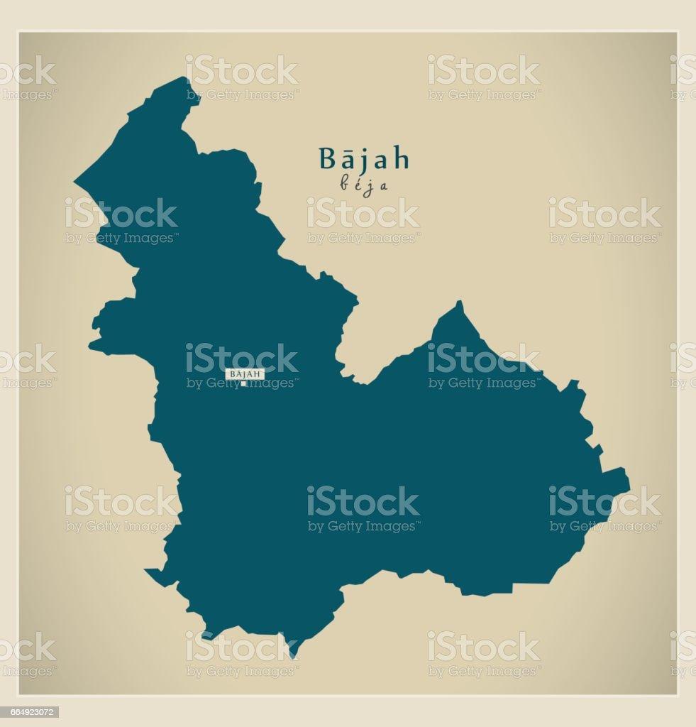 Modern Map - Bajah TN - ilustração de arte vetorial
