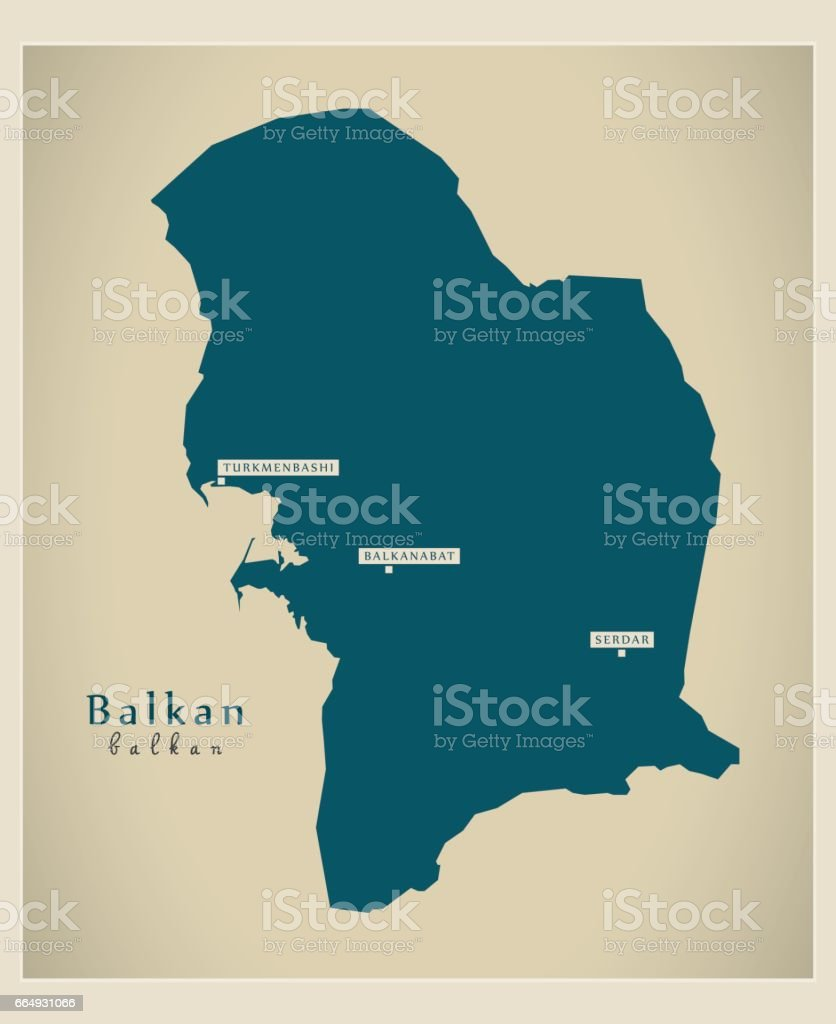 Modern Map - Balkan TM vector art illustration