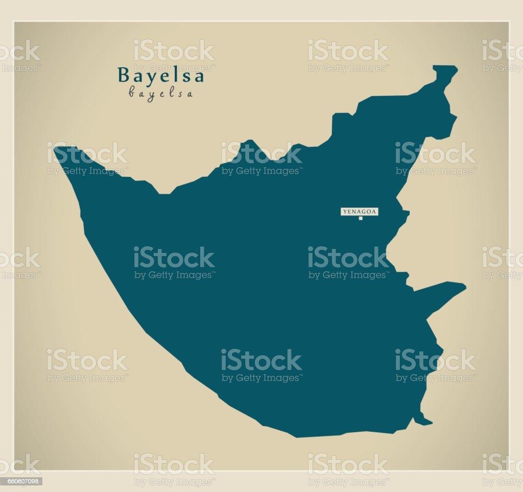 Modern Map - Bayelsa NG royalty-free modern map bayelsa ng stock vector art & more images of cartography