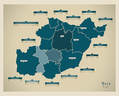 Modern Map - Beja PT